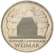 5 Mark (Goethe's Weimar Cottage - Pattern) – revers