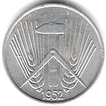 5 pfennig – avers