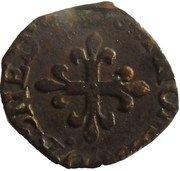 Liard au H couronné et à la croix fleurdelisée - Delfino Tizzone – revers