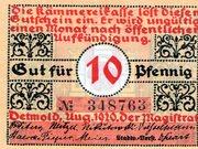 10 Pfennig (Detmold) – avers