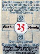 25 Pfennig (Detmold) – avers