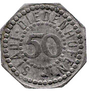 50 pfennig - Diedenhofen (Thionville (57)) – avers