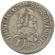 1 kreuzer Sigismund Lugwig – avers
