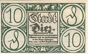 10 Pfennig (Stadt Diez) – avers