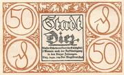 50 Pfennig (Donauwörth) – avers