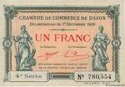 1 franc - Chambre de Commerce de Dijon [21] – avers