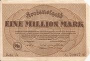1,000,000 Mark (Dillenburg) – avers