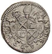 1 Kreuzer - Marian von Castelberg (Disentis Abbey) – avers