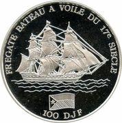 100 francs (Frégate) – revers