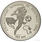 100 francs (Coupe du monde de football USA 1994) – revers