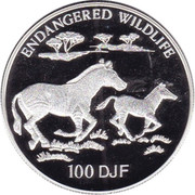 100 francs (Faune en danger) – revers