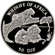 50 francs (Faune africaine) – revers