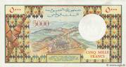 5,000 Francs – revers