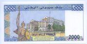 2000 Franc – revers