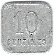 10 Centimes - Fédération Commerciale Industrielle - Dole [39] – revers