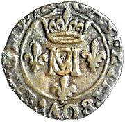 Liard Gaston d'Orléans et Marie de Montpensier – avers