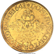 Ecu d'Or Gaston d'Orléans – revers