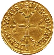 Double écu d'or François II de Bourbon-Montpensier – revers