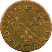 Double-Tournois Louis II de Bourbon-Montpensier (Type 1) – revers