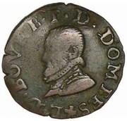Denier-Tournois Louis II de Bourbon-Montpensier (Type 2) – avers