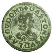 Double-Tournois Gaston d'Orléans (Type 16) – avers