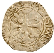 1 blanc Pierre II de Bourbon -  avers
