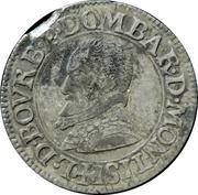 Double Tournois Louis II de Bourbon-Montpensier (Essai, argent) – avers