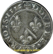 Double Tournois Louis II de Bourbon-Montpensier (Essai, argent) – revers