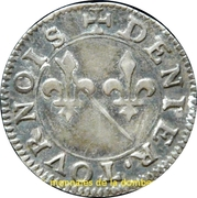 Denier Tournois Louis II de Bourbon-Montpensier (Essai en argent) – revers
