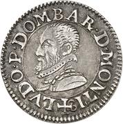 Denier-Tournois Louis II de Bourbon-Montpensier (Essai, argent) – avers
