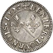 Denier-Tournois Louis II de Bourbon-Montpensier (Essai, argent) – revers