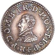 Denier-tournois Henri II de Bourbon-Montpensier (Essai, argent) – avers