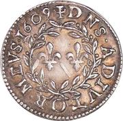 Denier-tournois Henri II de Bourbon-Montpensier (Essai, argent) – revers