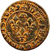 Denier-Tournois Gaston d'Orléans (Type 8) – revers