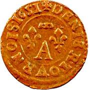 Denier-Tournois Gaston d'Orléans (Type 12) – revers