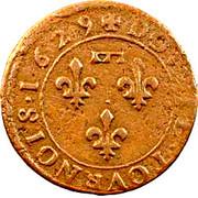 Double-Tournois Gaston d'Orléans (Type 6) – revers
