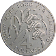 4 dollars - Elizabeth II (FAO) – revers