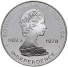 10 dollars - Elizabeth II (visite du Pape) – avers