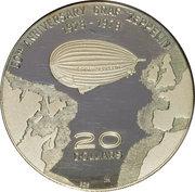 20 Dollars - Elizabeth II (Indépendance et 50ème anniversaire de Graf Zeppelin) – revers