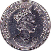 10 Dollars - Elizabeth II (Visite royale) – avers