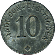 10 pfennig - Donaueschingen – avers