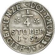 ¼ Stüber (Silver pattern strike) – revers