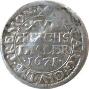 1/16 thaler Leopold I – avers