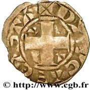 Denier Parisis  - Robert II – revers