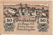 50 Heller (Drosendorf) – avers