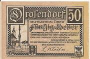 50 Heller (Drosendorf) – revers