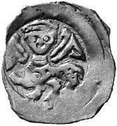 1 pfennig Friedrich II – avers