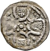 1 pfennig Duc Leopold V (Krems) – avers
