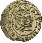 1 denarius Stephen Báthory (Riga) – avers