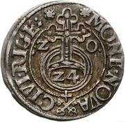3 polker Sigismund III Vasa (Riga) – revers